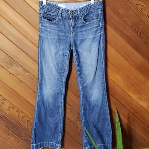 Gap 1969 flare leg jeans size 24/7 long and lean